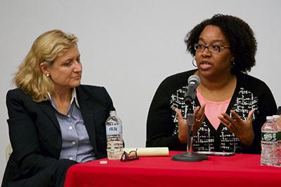 Lisa Thurau (left) and Marcia Gupta