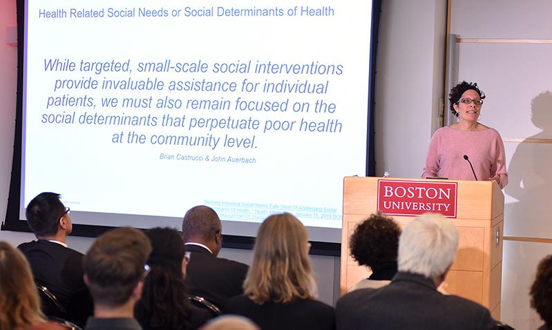 Jennifer Valenzuela discusses Health Leads' work on social determinants of health.