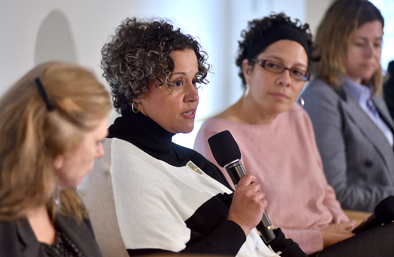 Linda Sprague Martinez speaks during the panel discussion.